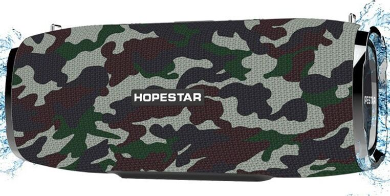 Портативная bluetooth колонка Hopestar A6 хаки 35W
