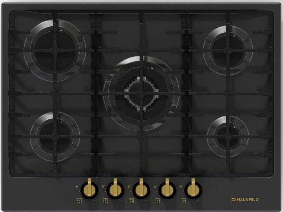 Варочная панель MAUNFELD MGHE. 75. 78RIG Тип Газовые панели Цвет Черный Тип управления Механическое Ширина,...