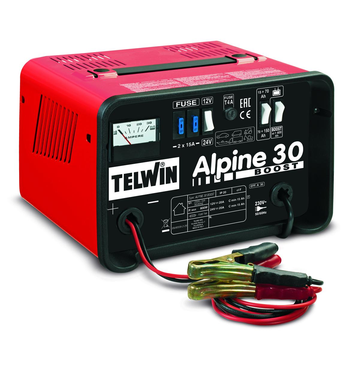 Зарядное устройство автомобильное TELWIN ALPINE 30 BOOST 12-24В