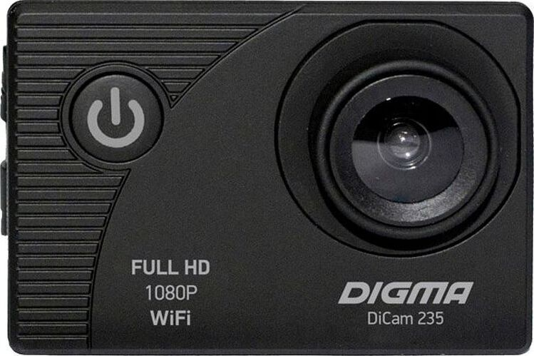 экшн-камера digma экшн-камера digma dicam 235, черный