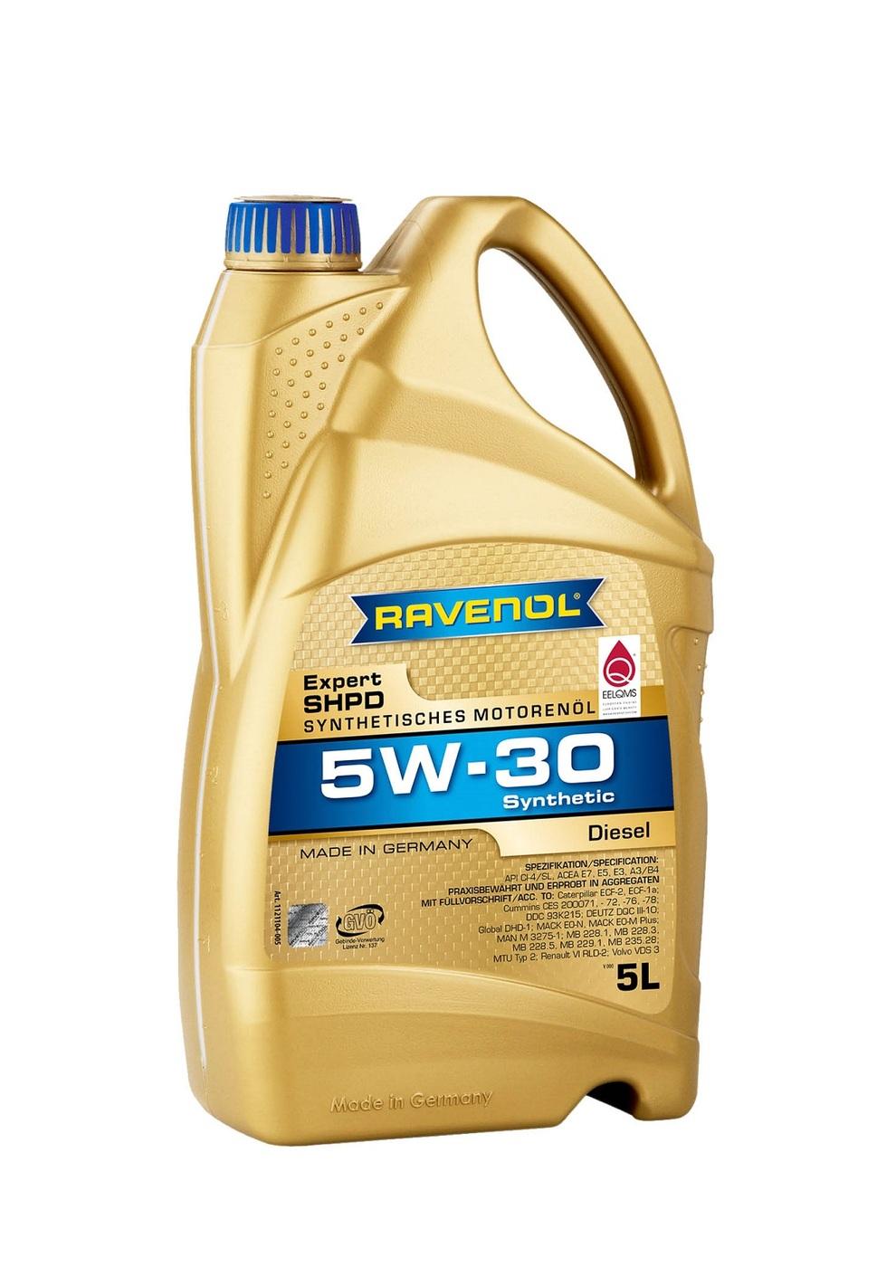 Моторное масло RAVENOL Expert SHPD SAE 5W-30 (5л)