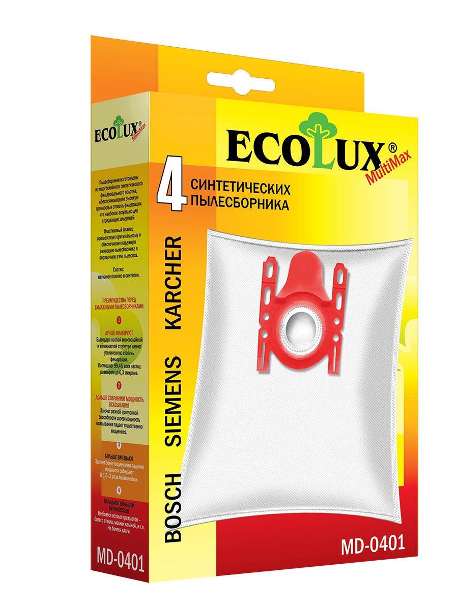 Синтетические пылесборники Ecolux, комплект 4 шт. (BS20)