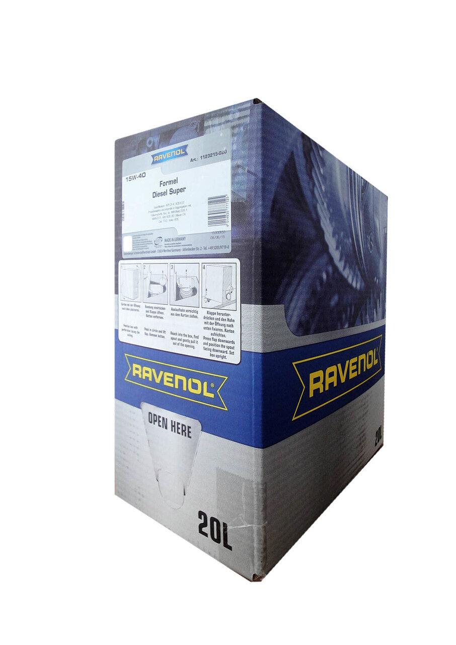Моторное масло RAVENOL Formel Super Diesel SAE 15W-40 (20л) ecobox