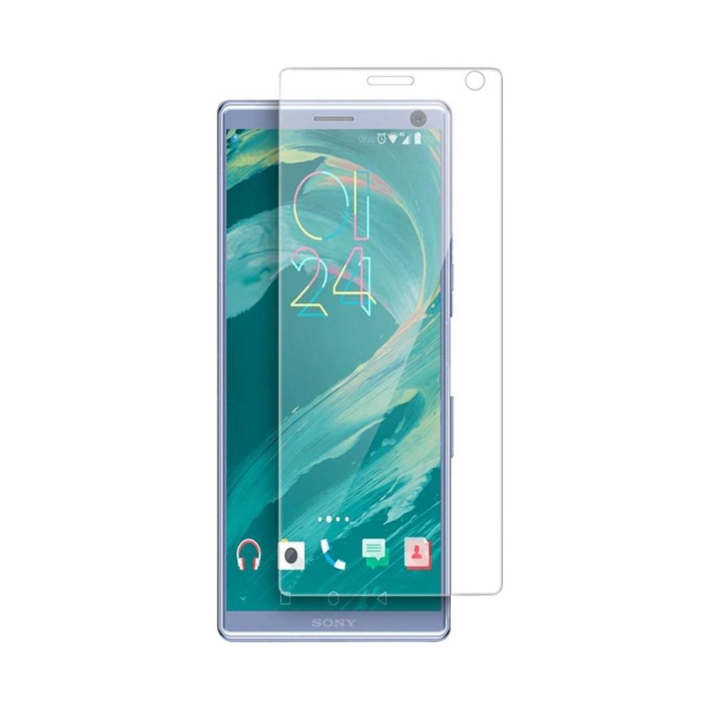 3D защитная пленка MyPads с закругленными краями которое полностью закрывает экран для телефона Sony Xperia 10 Plus глянцевая