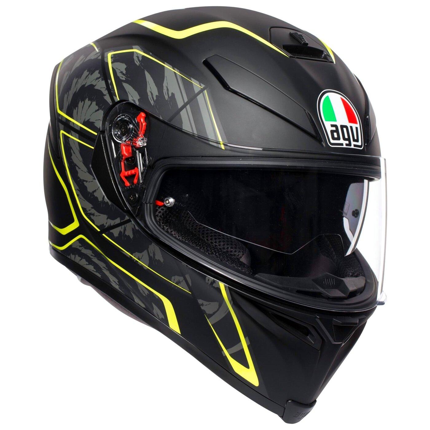 AGV Шлем K-5 S TORNADO MATT BLACK/YELLOW/FLUO S
