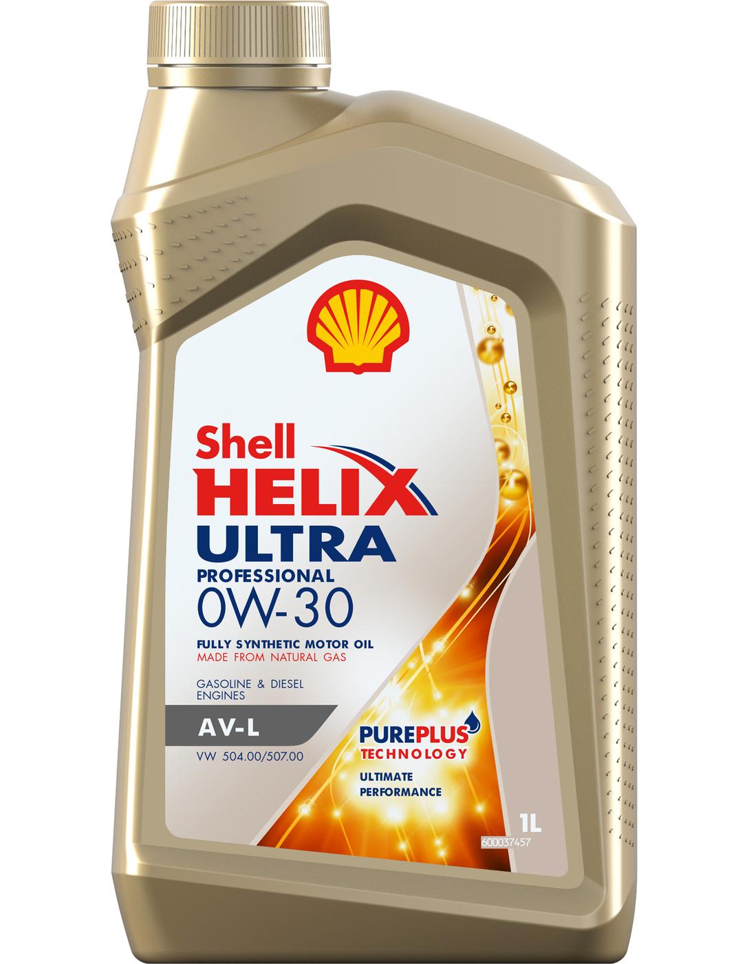 Масло моторное синтетическое Shell Helix Ultra Professional AV-L 0W-30 (1л)