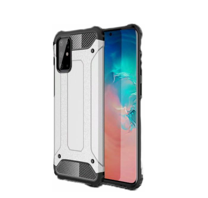 Чехол-бампер MyPads для Samsung Galaxy A71 SM-A715F (2020) противоударный усиленный ударопрочный серебристый