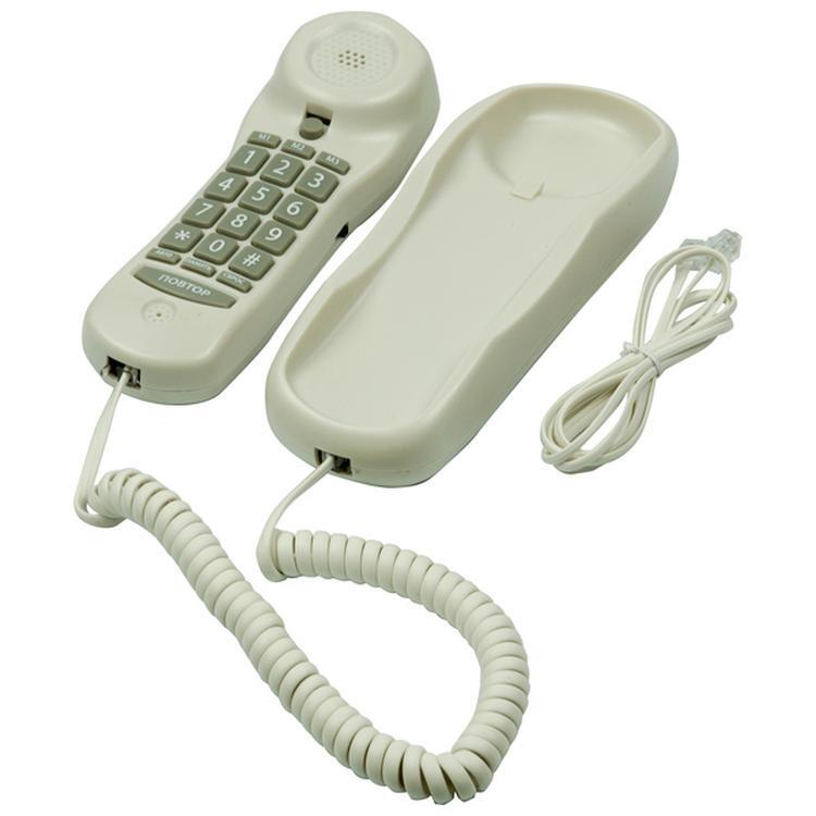 телефон проводной ritmix rt-003 white