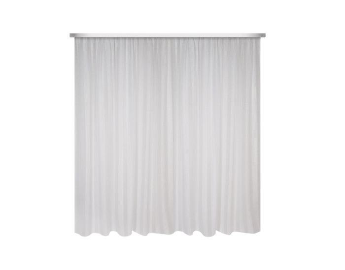 Тюль на ленте для кухни 140х180 см вуаль цвет белый-20767