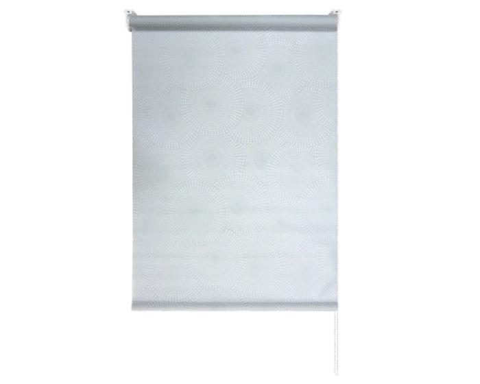 Штора рулонная 100x160 см, цвет серый-20379