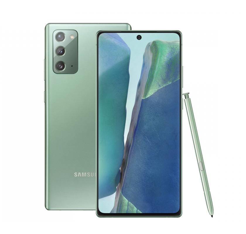 смартфон samsung galaxy note 20 8/256gb, зеленый