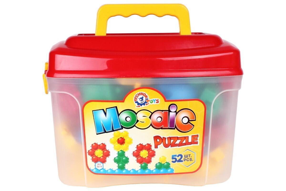 Игрушка мозаика-пазлы ТЕХНОК 52 элементов пчёлка