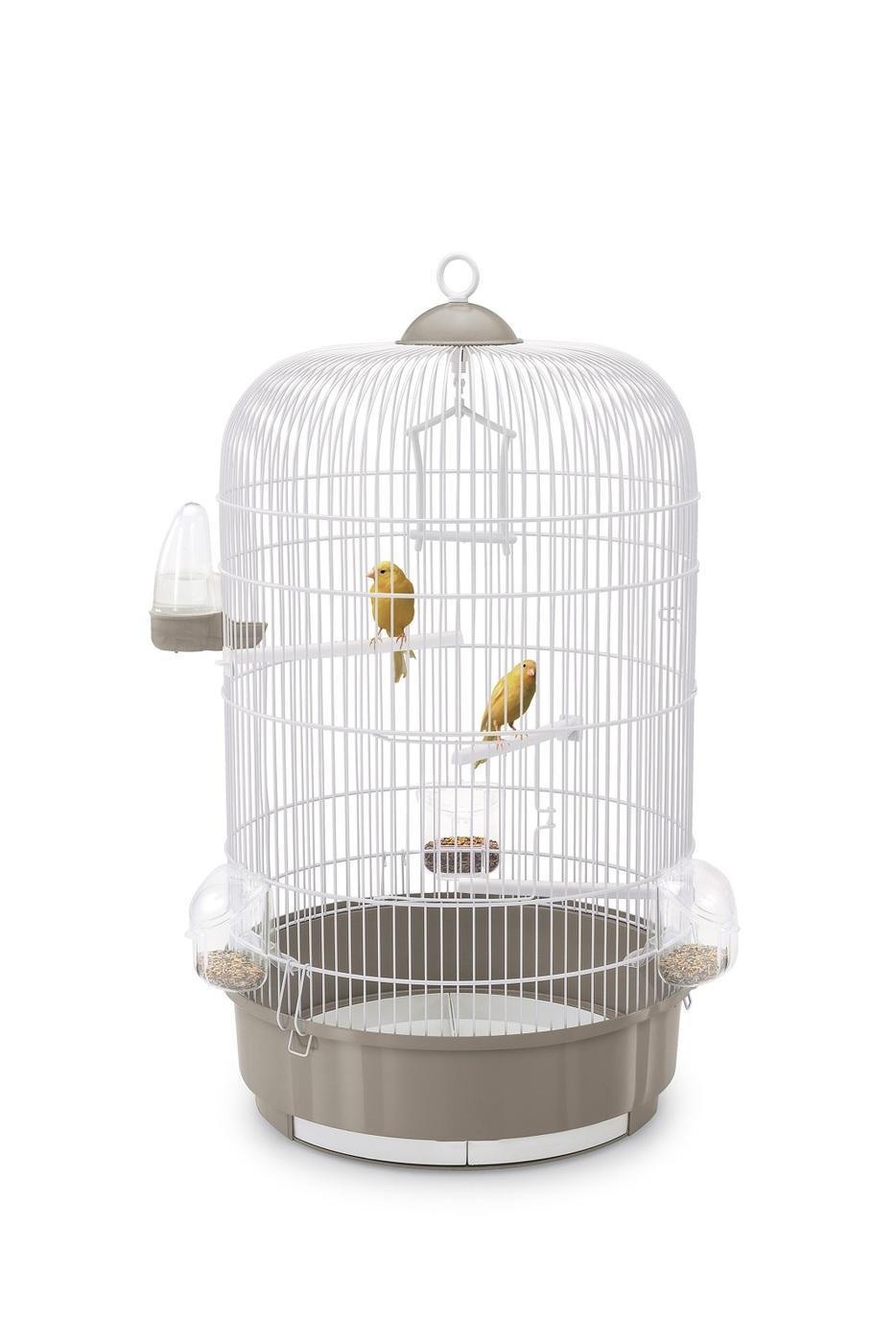клетка для птиц imac luna, темно-серый, круглая, ф40х65см