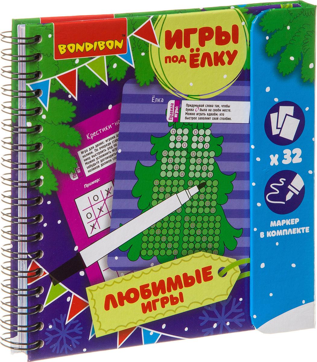 Обучающая игра Bondibon Игры под елку Любимые игры Новогодняя серия, ВВ3543  #1