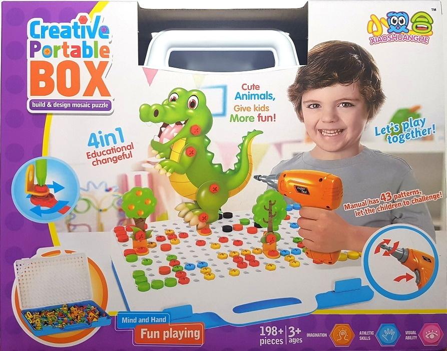Конструктор для мальчиков и девочек/ Конструктор мозаика с шуруповёртом дрелью/ Мозаика для детей 198 #1