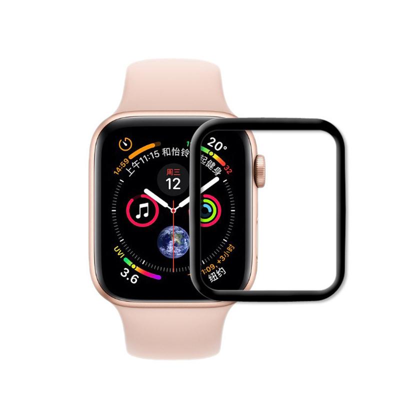 3D защитная пленка MyPads с закругленными краями которое полностью закрывает экран для часов Apple Watch #1