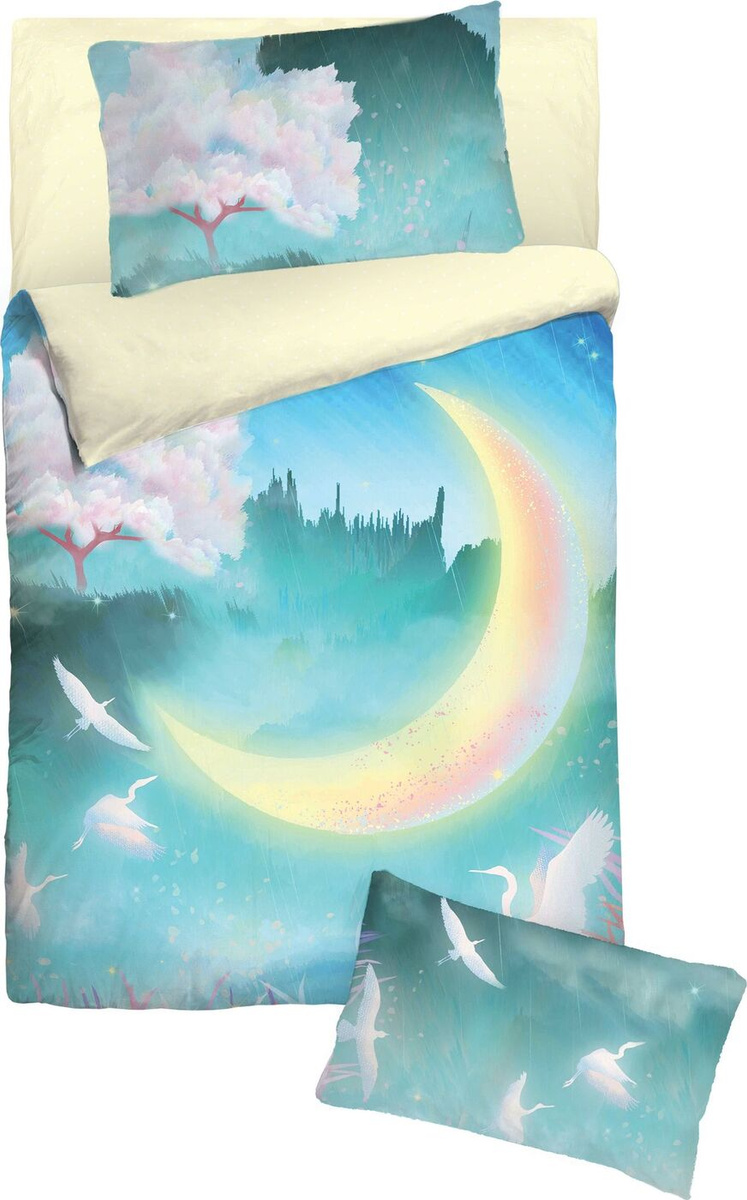 Детский комплект постельного белья Облачко Набивной Хлопок, Детский  #1