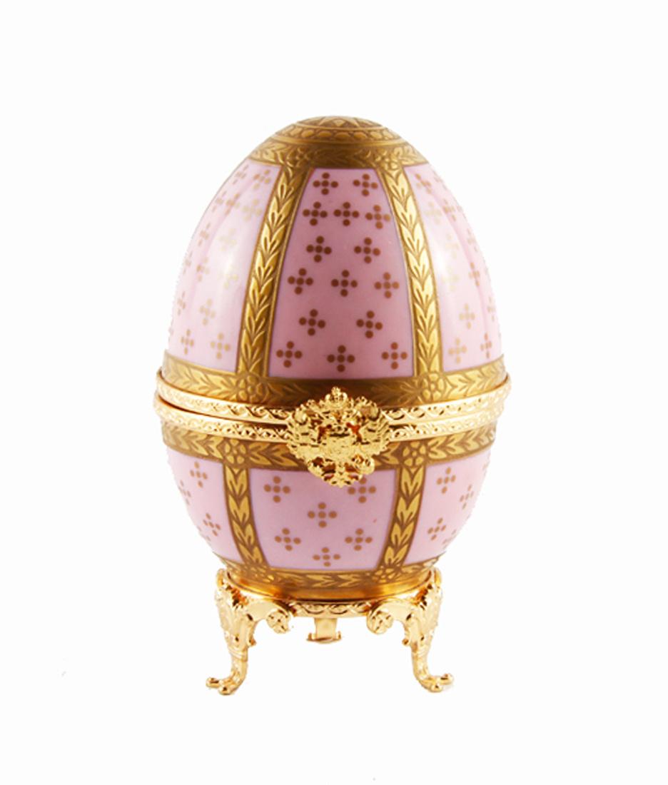 """Фаберже. Яйцо-шкатулка """"Розовое яйцо"""" из Императорской коллекции. Фарфор, металл, золочение. Фаберже-Limoges, #1"""