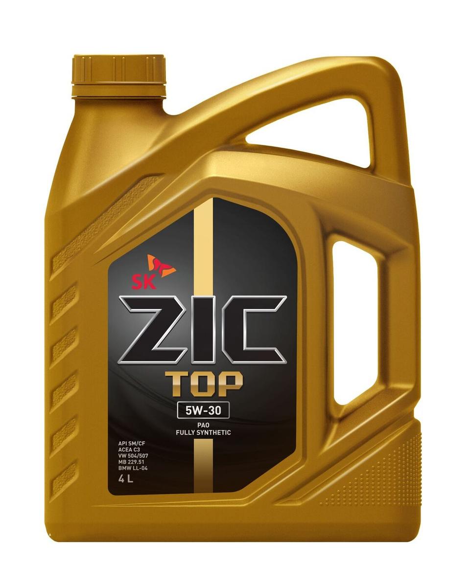 Моторное масло ZIC TOP 5W-30 Синтетическое 4 л #1