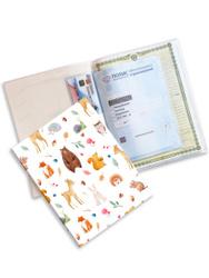 Счастье внутри/Папка для детских документов / Органайзер Животные леса на 2 комплекта документов нового образца А4 + А5. Счастье живёт внутри