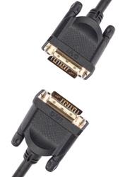 Кабель DVI-D 1080p@60Hz 1.8 метра AOpen/Qust 2 ферритовых фильтра M M чёрный (ACG442GD-1.8M). DVI кабели