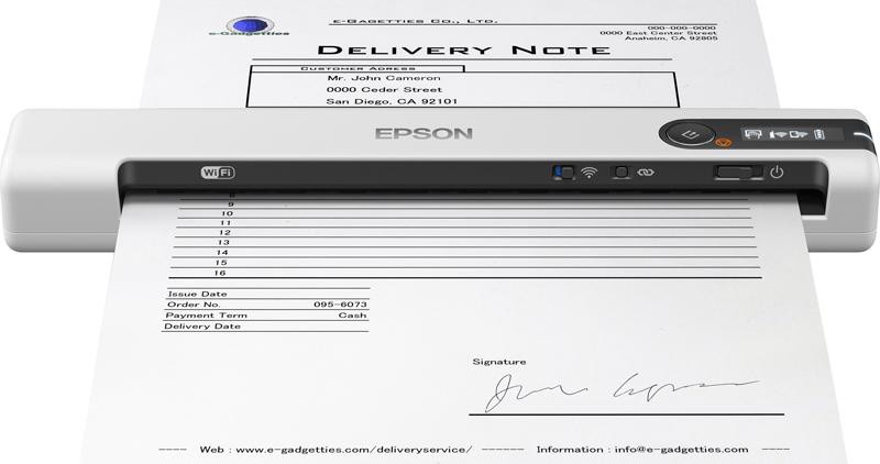 Сканер Epson Work Force DS-80W, B11B253402, серый