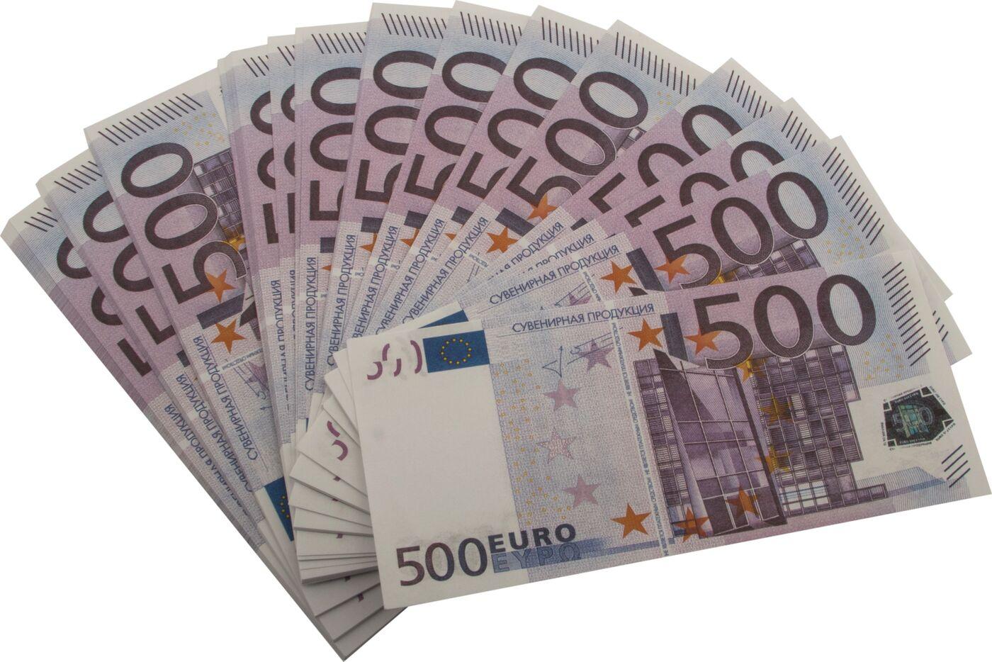 Забавная Пачка денег 500 евро салфетки пачка 100 евро
