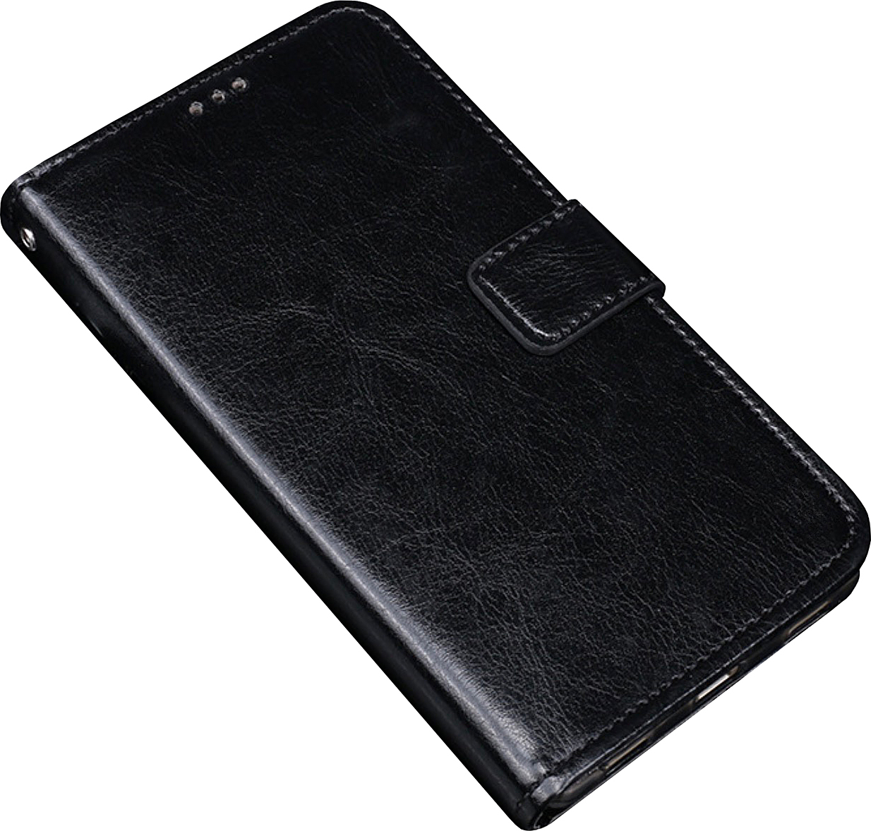 Чехол-книжка MyPads для Lenovo Phab PB1-750M/ 750N с мульти-подставкой застёжкой и визитницей черный