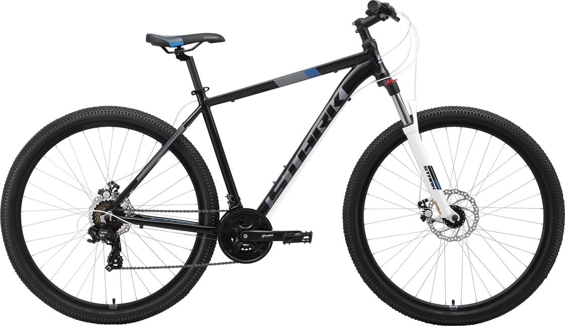 цены Велосипед STARK Hunter 29.2 D 2019 20 чёрный/серый/синий