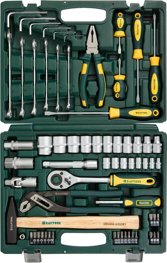 Набор ручного инструмента KRAFTOOL 27976-H66 набор инструментов kraftool 66 предметов expert 27976 h66