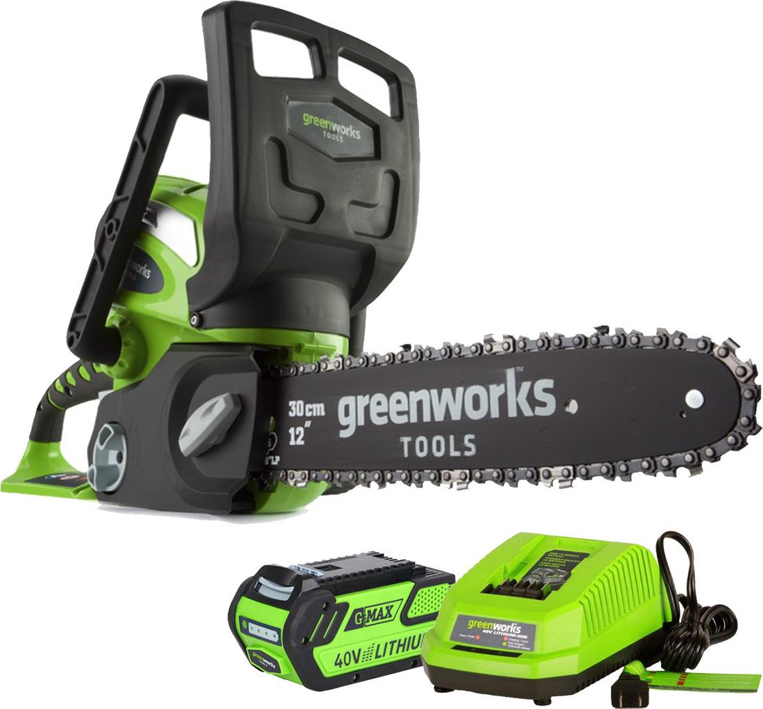 Пила цепная аккумуляторная Greenworks G40CS30 40V greenworks 40v g40b3 2925707