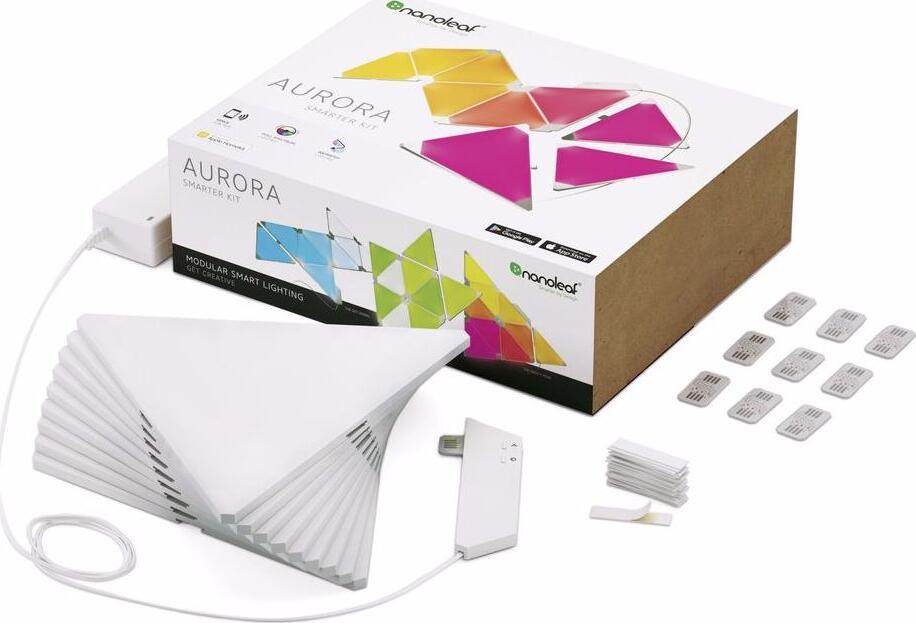 Комплект умных ламп Nanoleaf Aurora Smarter (NL22-0002TW-9PK) Kit 9 Panels (White)