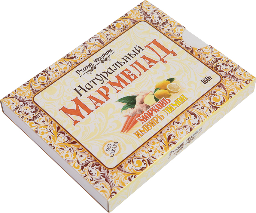 Натуральный мармелад Русские традиции Морковь-имбирь-лимон, 160г цена