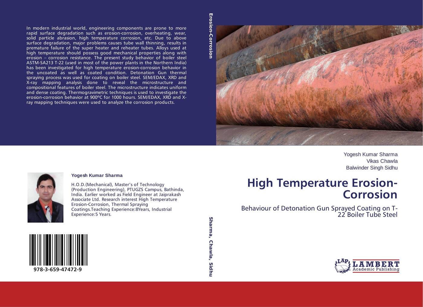лучшая цена Yogesh Kumar Sharma,Vikas Chawla and Balwinder Singh Sidhu High Temperature Erosion-Corrosion