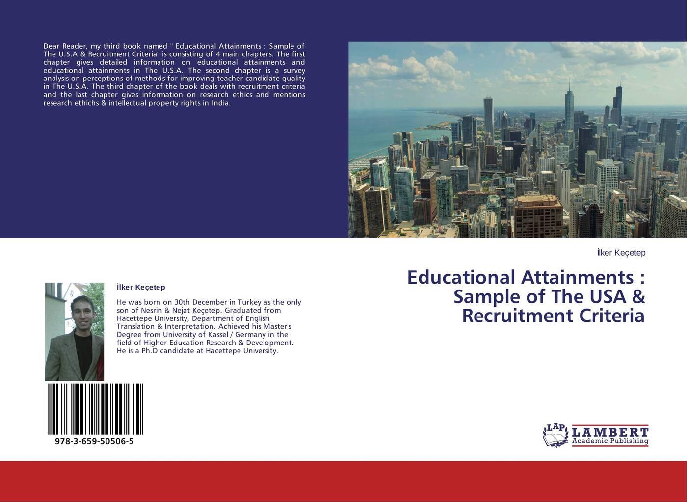 İlker Keçetep Educational Attainments : Sample of The USA & Recruitment Criteria asiago dorcah teacher recruitment
