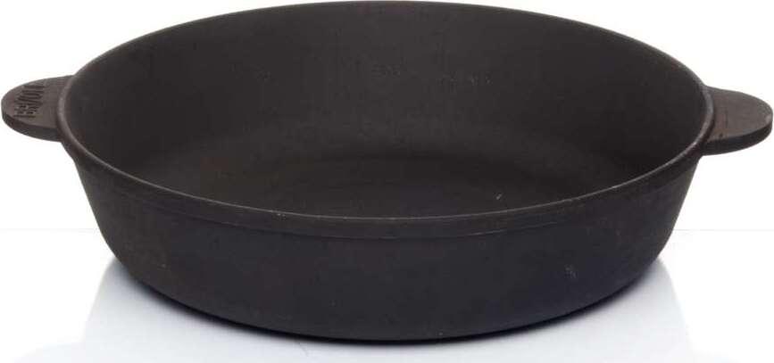 Сковорода-жаровня BRIZOLL МОНОЛИТ М2860У с двумя ручками 28*6 см