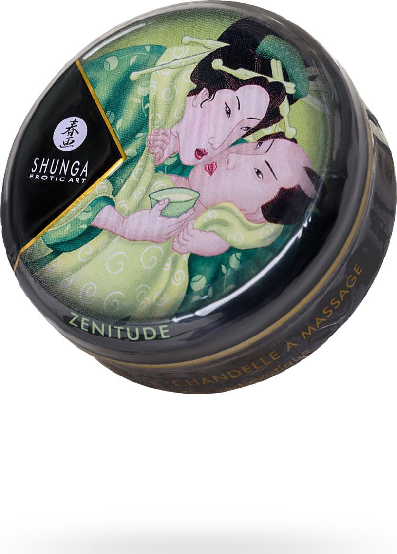 Массажное аромамасло Shunga Экзотический зелёный чай, 30 мл.