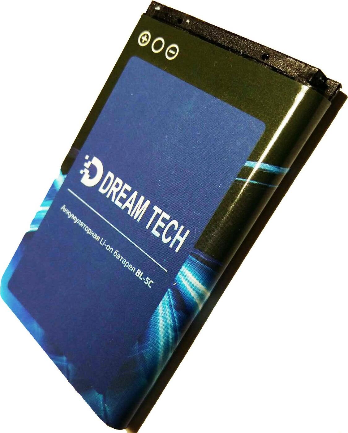Аккумулятор DREAM BL-5C для телефонов Nokia,радиоприемников, регистраторов, телефонов, измерителей,1020 mAh