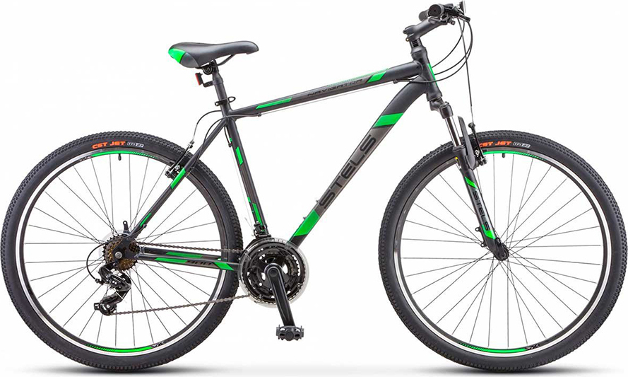 Велосипед Stels Navigator 900 V V010 Черный/зеленый 29 (LU093449), 17,5'