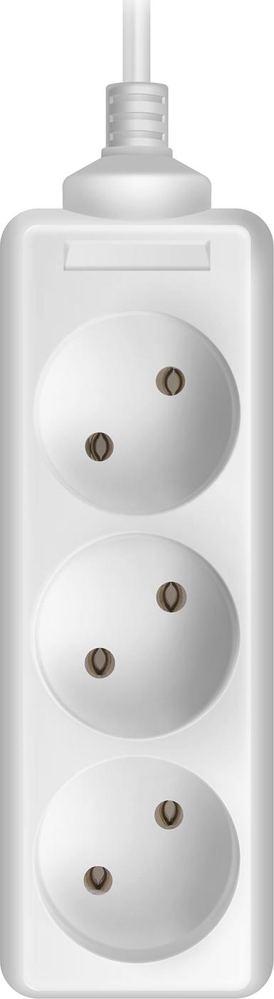 Удлинитель SVEN Standard 2G-3/3m, белый