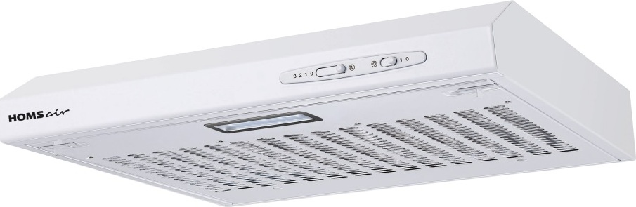 Кухонная вытяжка HOMSair HORIZONTAL 60 БЕЛЫЙ Данная вытяжка может работатьна кухне площадью до 12 м2. Уровень шума...