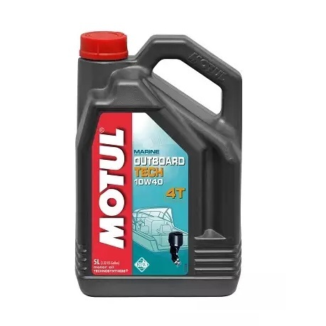 Масло моторное полусинтетическое Motul Outboard Tech 4T 10W-40 5 л (106354)