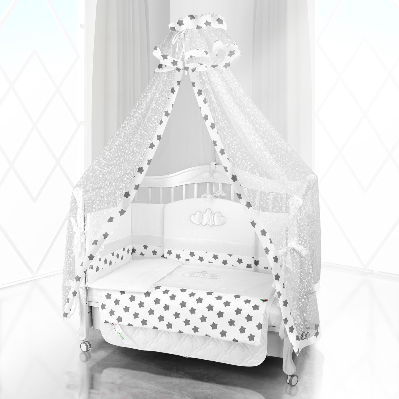 Комплект постельного белья Beatrice Bambini Unico Grande Stella (125х65) - bianco& bianco& grigio