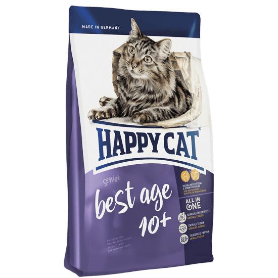HAPPY CAT Adult Best Age +10 Senior корм для пожилых кошек, птица, ягненок, лосось 4кг
