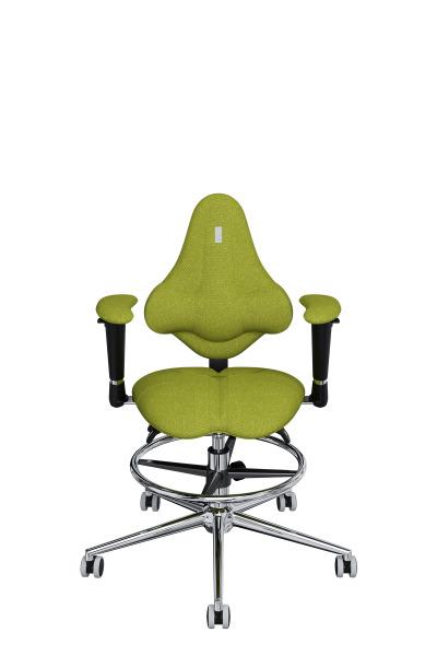 Детское компьютерное кресло KULIK SYSTEM KIDS Оливковый