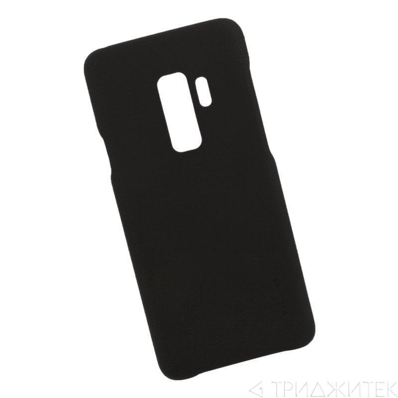 Чехол для SAMSUNG GALAXY S9 PLUS черный пластиковый прорезиненный