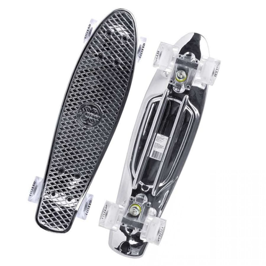 Скейтборд MC Plastic Board METALLIC small (Серебряный)