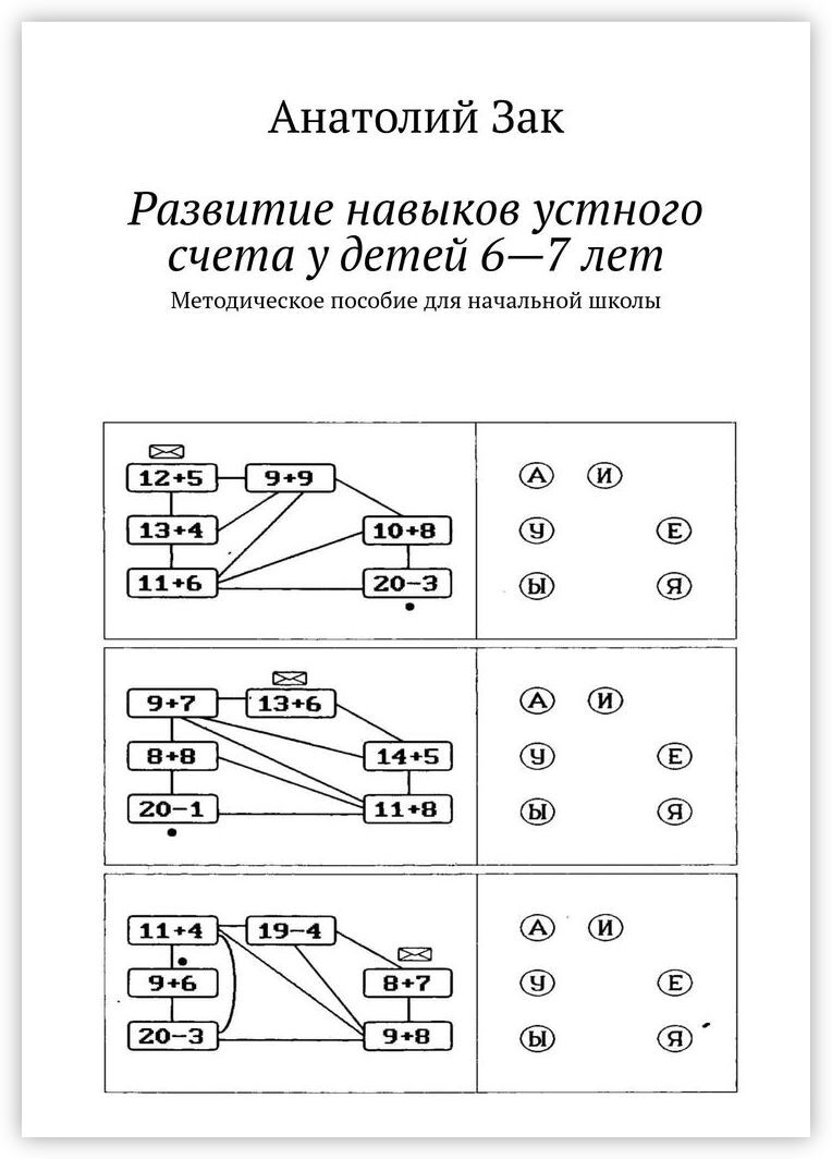 Анатолий Зак. Развитие навыков устного счета у детей 6-7 лет