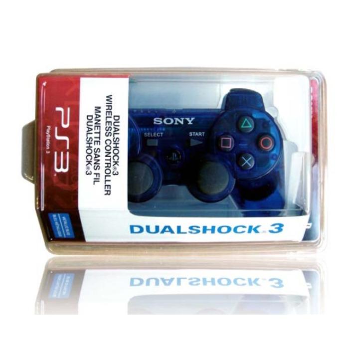 Геймпад Playstation 3 Dualshock 3 Прозрачный Синий (Transparent Blue)
