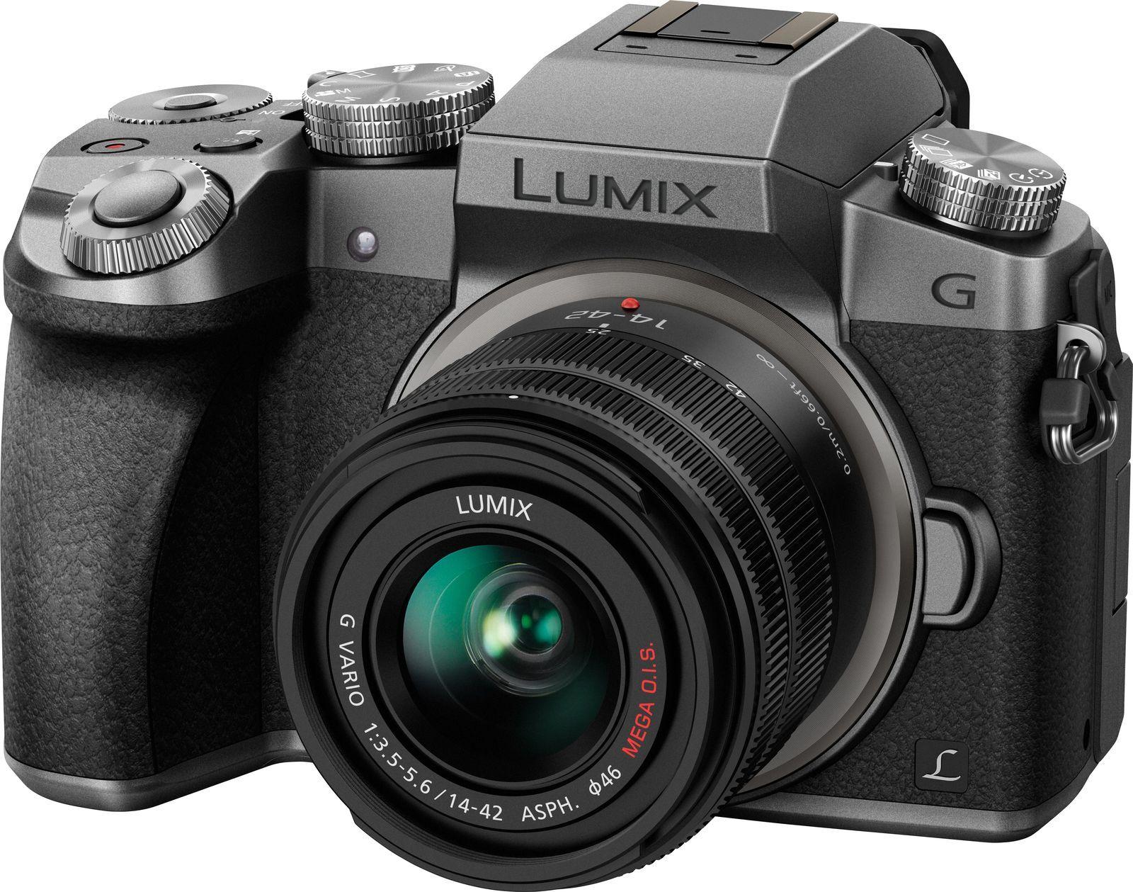беззеркальный фотоаппарат panasonic lumix dmc-g7 kit 14-42mm, silver уцененный товар (№1)
